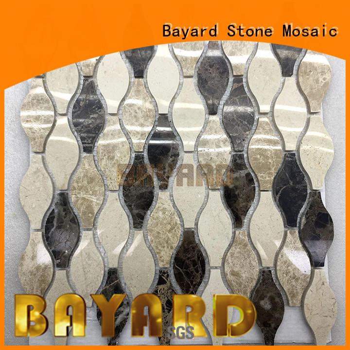 Bayard elegant mosaic stones green for bathroom