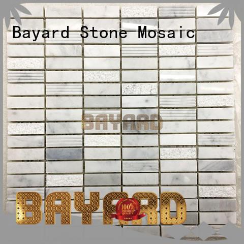 wall stone mosaic tile backsplash vendor Bayard