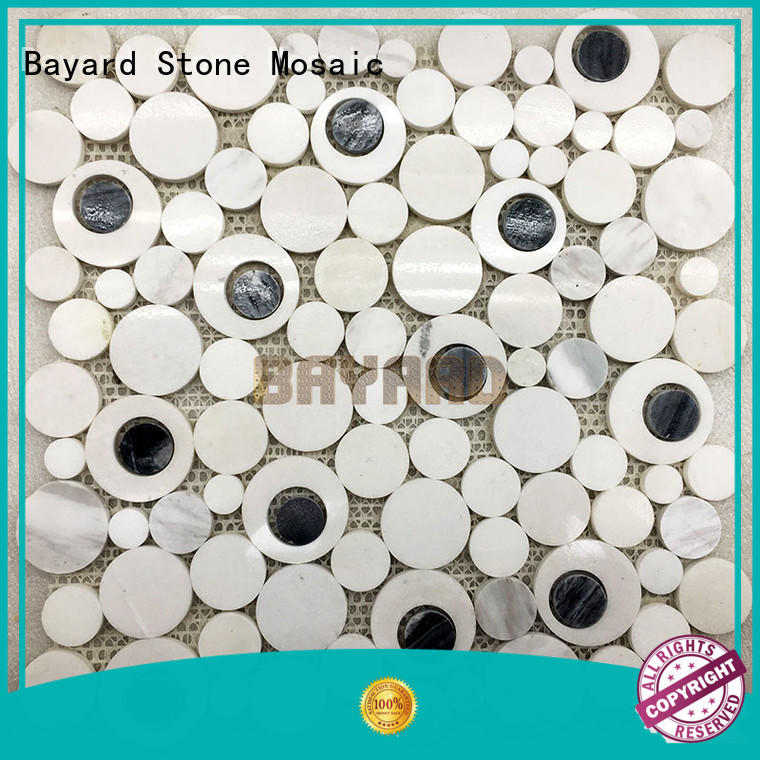 colours marble glass mosaic tile vendor for wall decoration Bayard