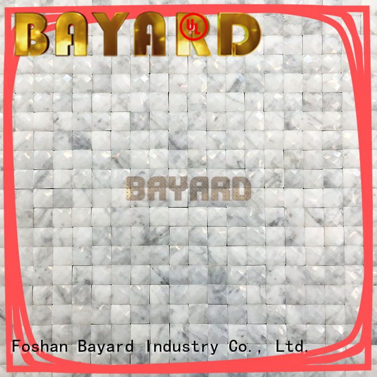 Bayard widely used black and grey mosaic tiles overseas market for foundation