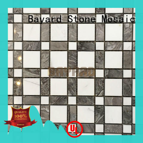 Bayard fantastic pebble mosaic tile in different shapes for hotel lobby