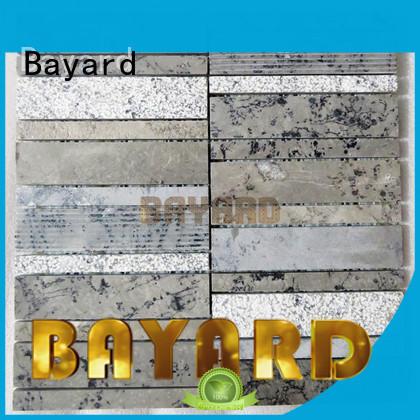 Bayard marfil mosaic bathroom floor tile for hotel