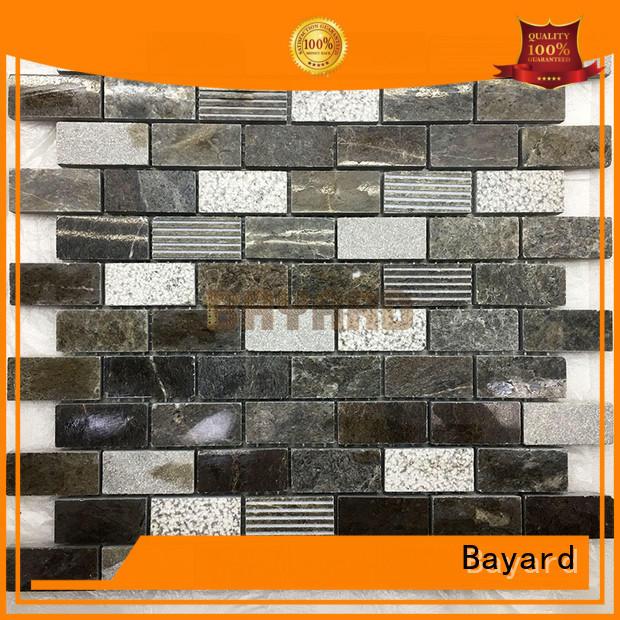 grey natural stone mosaic wall tile marble for TV wall Bayard