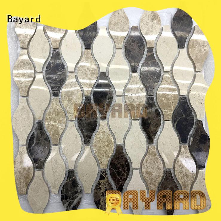 upscale round mosaic tiles many