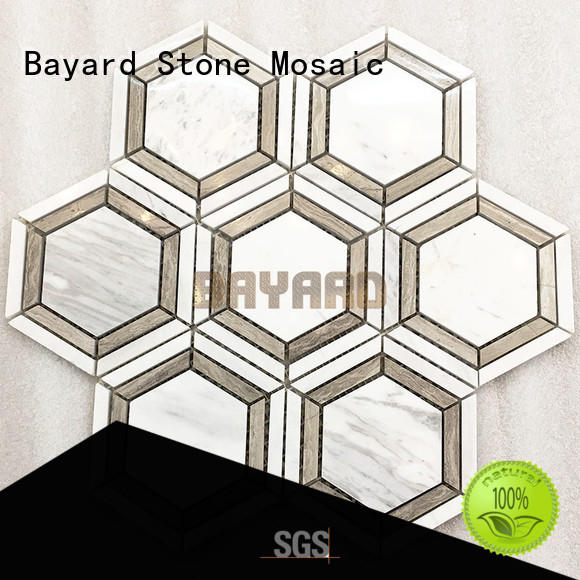 profdssional light grey mosaic tiles hexagan overseas market for bathroom