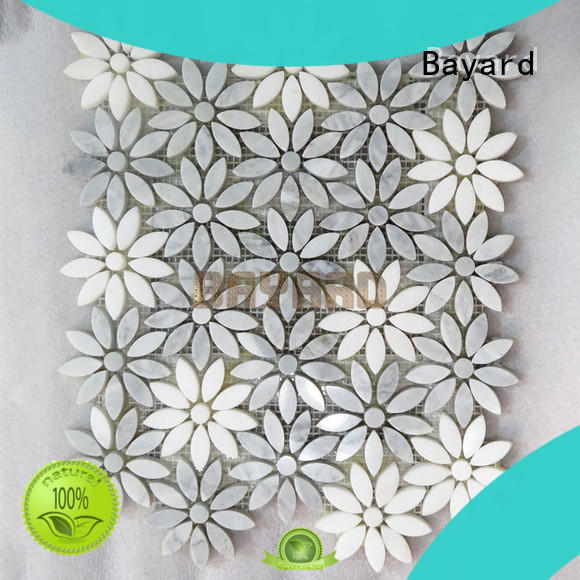 elegant green mosaic wall tiles factory price for wall decoration Bayard