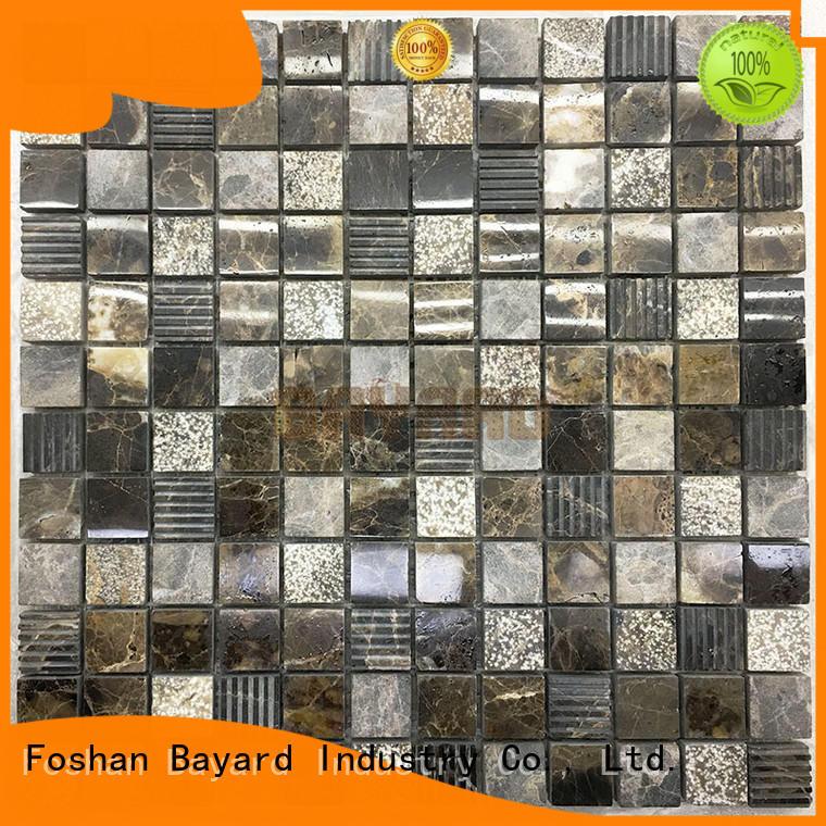 stone blue mosaic wall tiles for supermarket Bayard