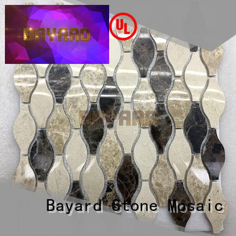 circle mosaic border tiles light for bathroom Bayard