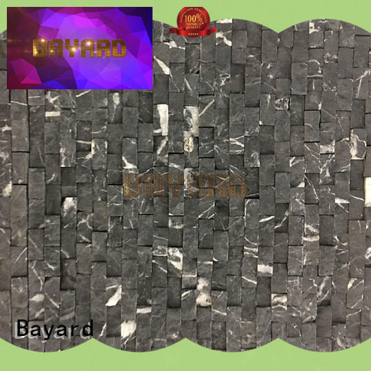 fashion design slate mosaic tiles black for foundation