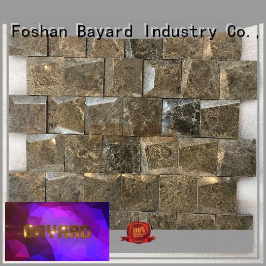 Bayard high-end gray marble mosaic tile sheets for bathroom