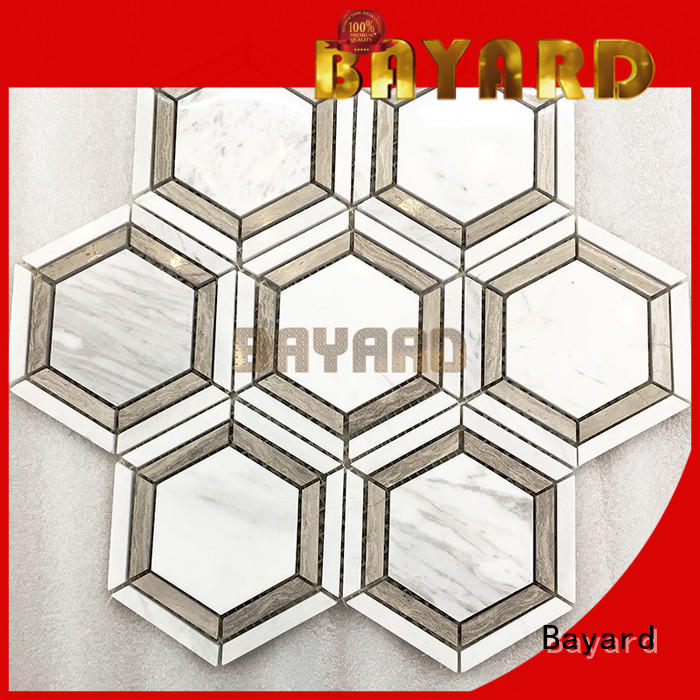 2x2 ceramic mosaic tile hexagan supplier for wall decoration