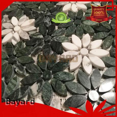 circle marble mosaic floor tile colours for bathroom Bayard