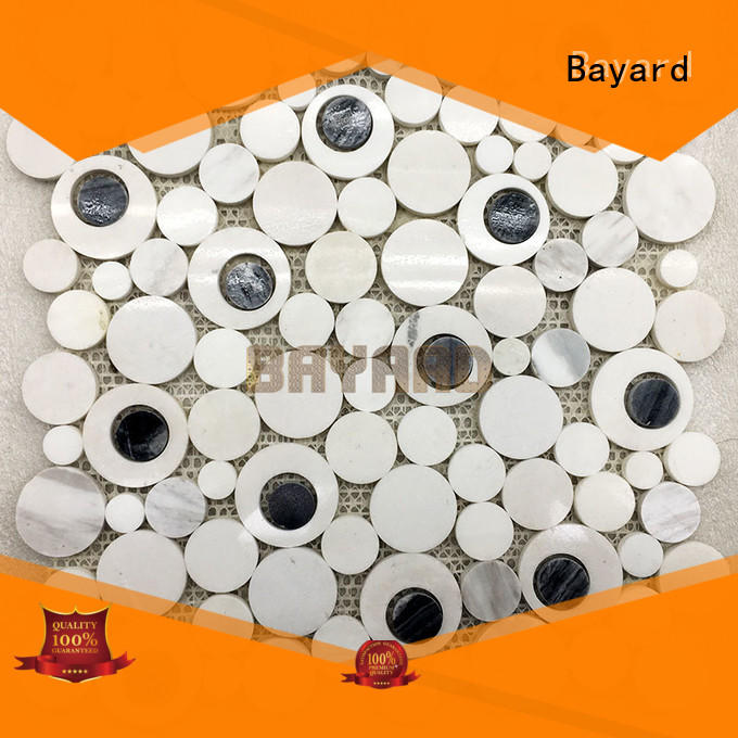 Bayard mix round mosaic tiles grab now for hotel lobby