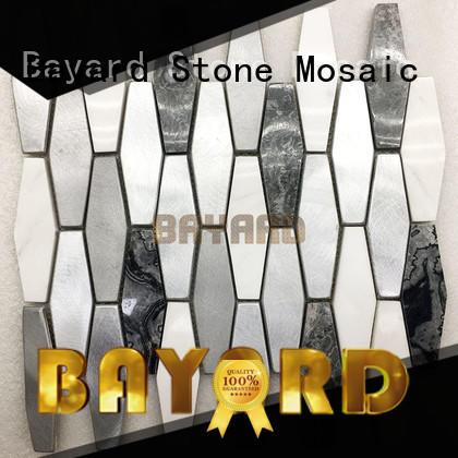 Metal mix marble mosaic tiles stone mosaic tile sheets metal mosaic tiles natural stone mosaic tile backsplash
