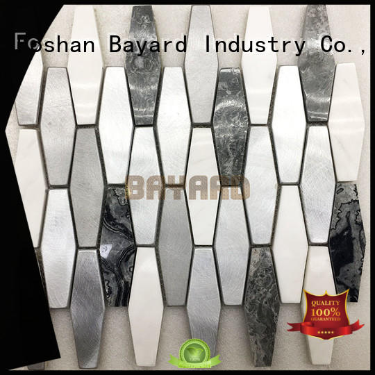 glossy metal mosaic tiles flower factory price for hotel lobby