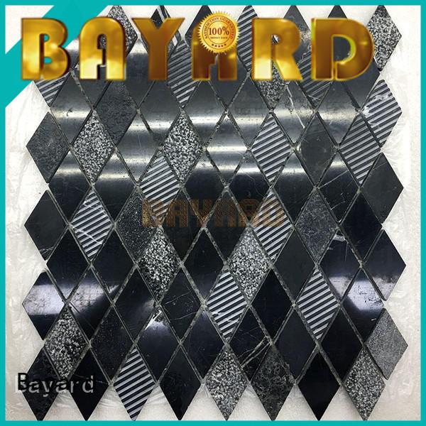 Bayard dark square mosaic tiles dropshipping for hotel