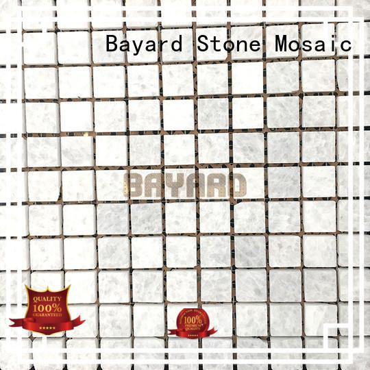 faces light grey mosaic tiles stone for foundation Bayard