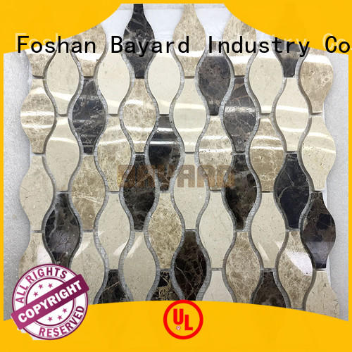 widely used grey mosaic floor tiles shape for wholesale for wall decoration