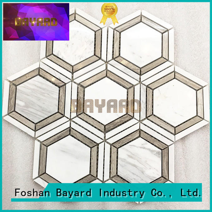 Bayard upscale black and silver mosaic tiles factory price for wall decoration