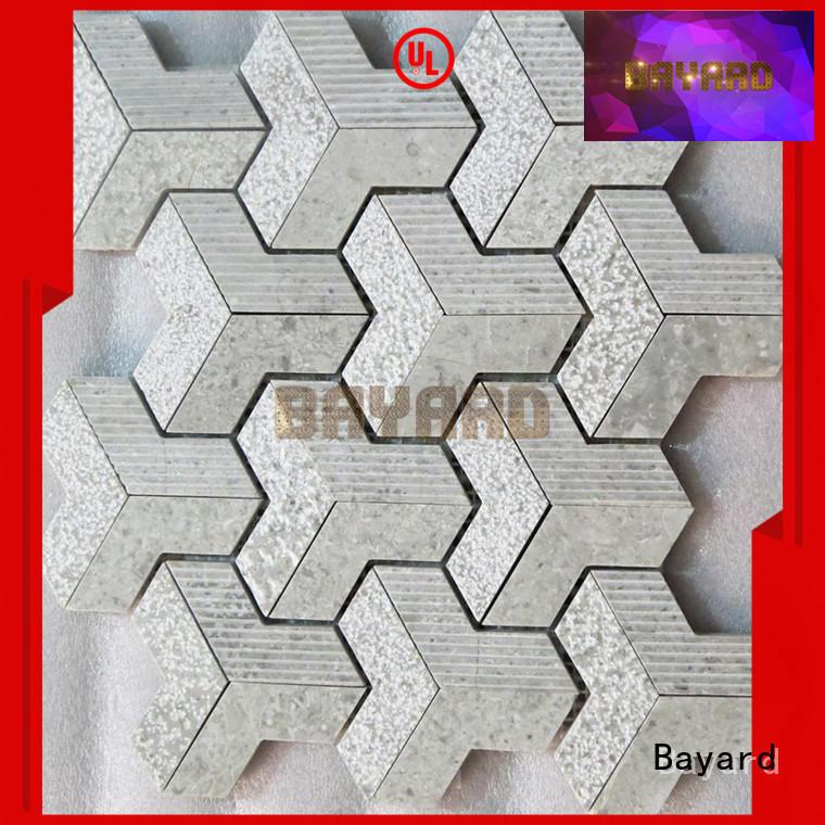 elegant metal mosaic tiles stone vendor for hotel lobby