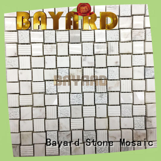 Bayard black and grey mosaic tiles supplier for foundation