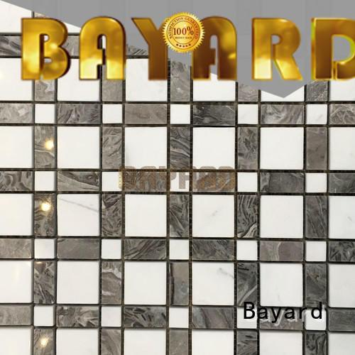 Bayard white blue mosaic floor tile supplier for bathroom