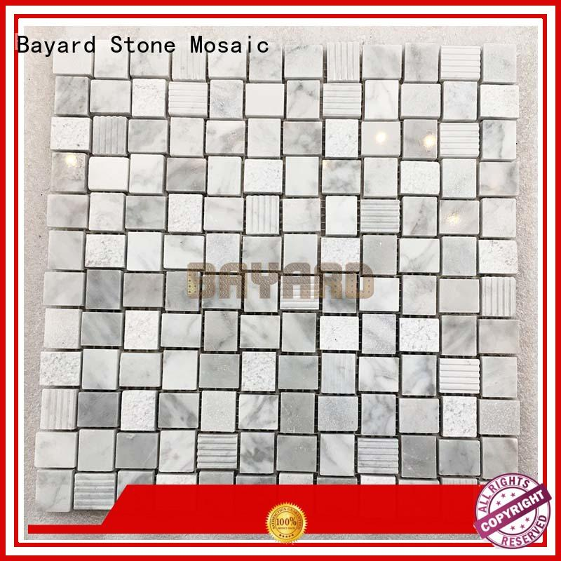 white mosaic bathroom floor tile dropshipping for TV wall