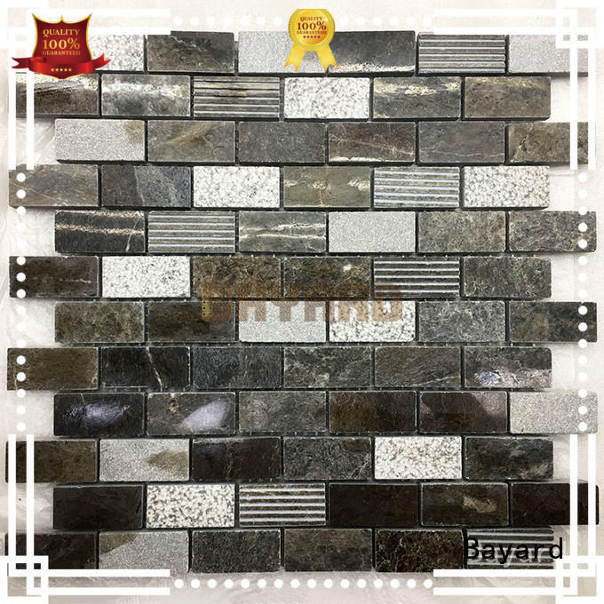 Bayard grey marble mosaics newly for hotel