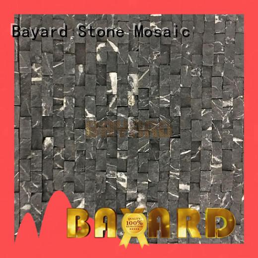 Bayard black grey glass mosaic tile order now for hotel lobby