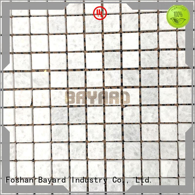 Bayard black and silver mosaic tiles rectangle for bathroom