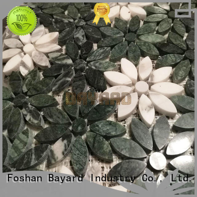 Bayard glossy marble mosaic floor tile supplier for wall decoration