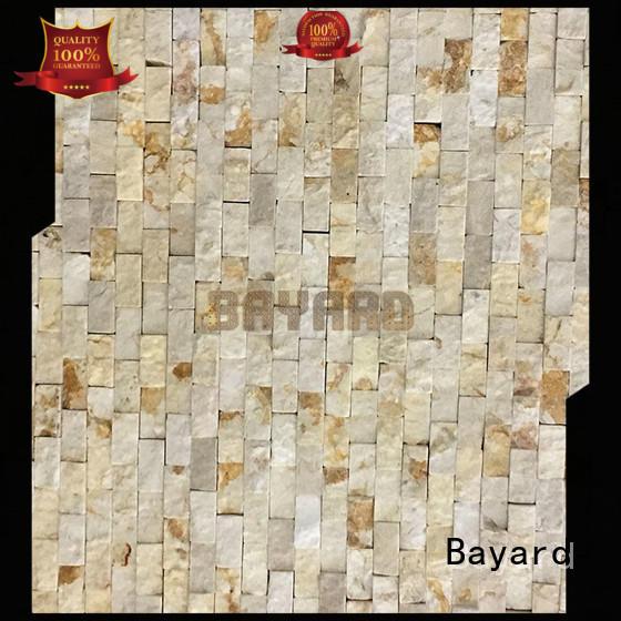 Bayard patterned natural stone mosaic tiles supplier