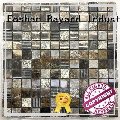 high-end mosaic tile backsplash marquina for swimming pool