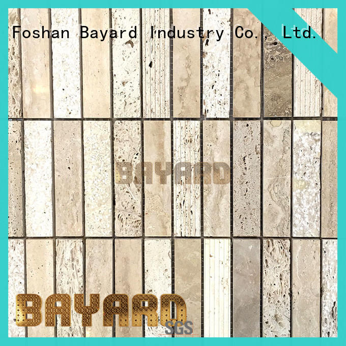 Bayard special travertine glass mosaic tile wall for decoration
