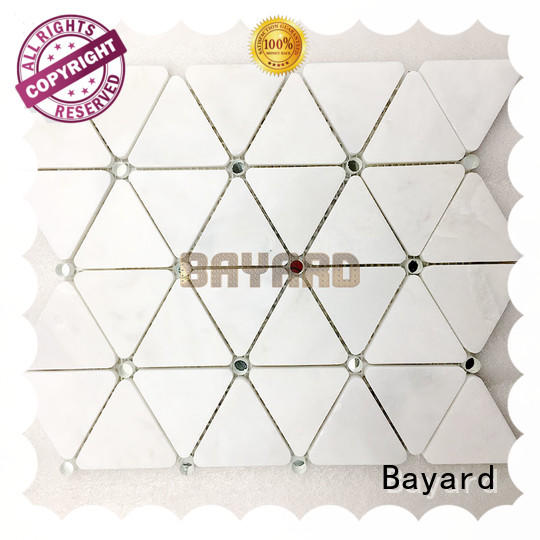 Bayard rectangle pebble mosaic tile owner for foundation