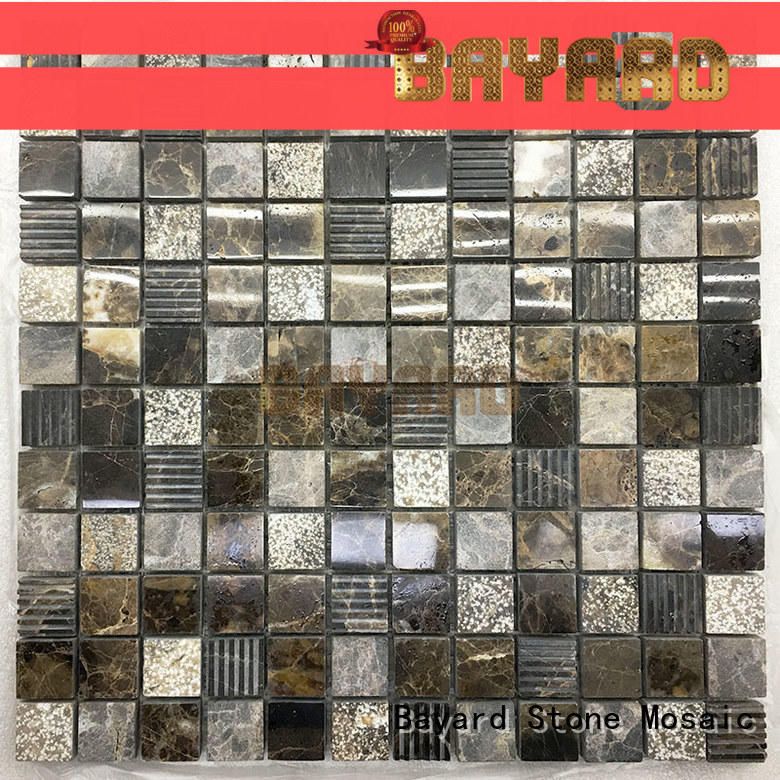 Bayard white square mosaic tiles supplier for hotel