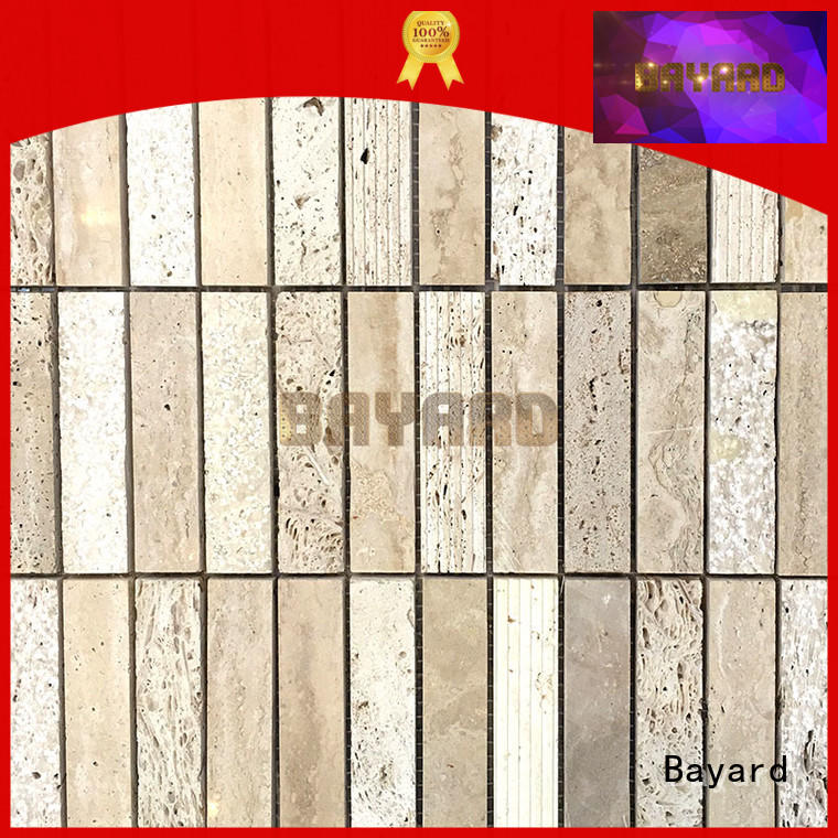 Bayard brick travertine mosaic wall tile for wholesale for hotel lobby