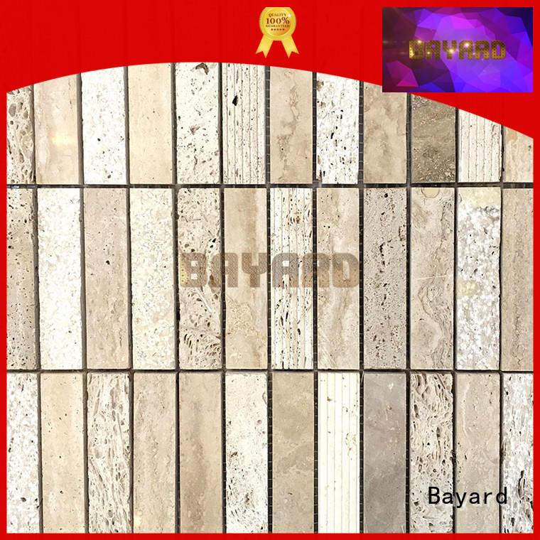 Bayard brick travertine mosaic wall tile for wholesale for hotel lobby