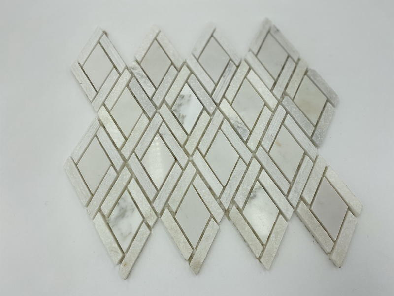 Carrara white marble mosaic tiles