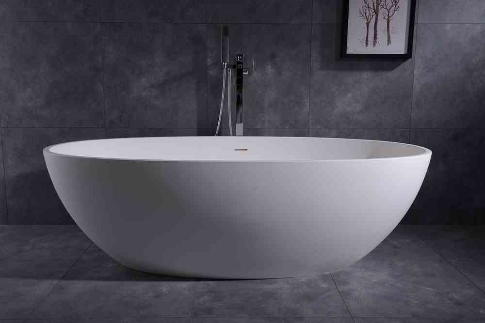 Wholesale Solid Surface Bathtub White Cast Stone Bathtub